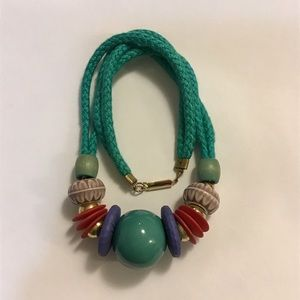 Braided Cable with Multi Colored Baubles 19""